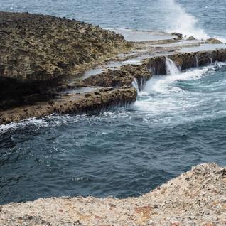 Lava-Formationen an der Nordküste...