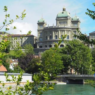 Ein Ausflug nach Bern führte uns unter das Bundeshaus.
