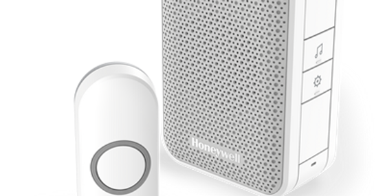 Honeywell white Wireless portable doorbell with push button DC311N