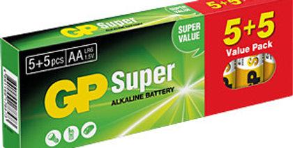 Alkaline battery, AA  (pack of 10)