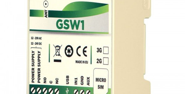 Mars Commerse GSW1 DIN RAIL GSM remote mobile switch