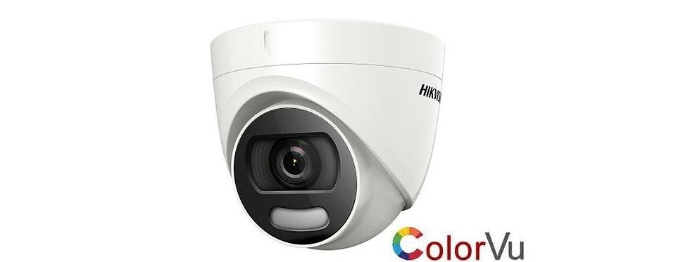 Buy online Hikvision 2 MP Full Time Colour Mini Turret Camera (DS-2CE72DFT-F)
