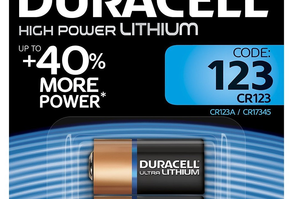 Duracell Specialty Type 123 Ultra Lithium Photo Battery