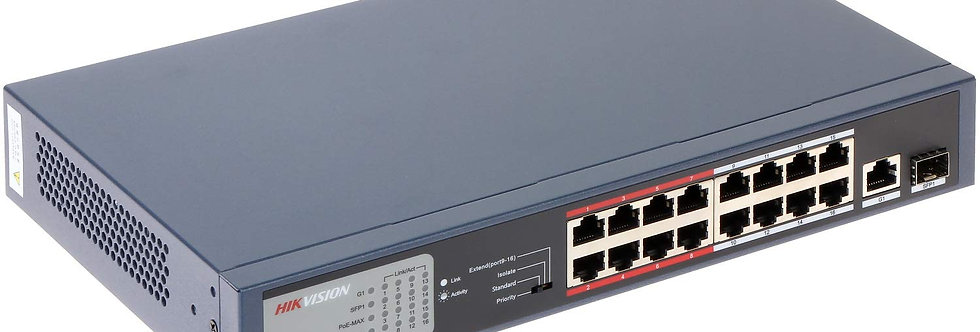 Buy online Hikvision 32-ports 100Mbps Unmanaged PoE Switch (DS-3E0318P-E)