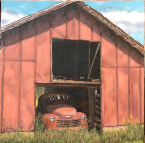 Landscape Painting - Barn