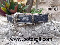 50 ZD CINTO OKLAHOMA NEGRO 35mm(cincelado.pelo) face y www