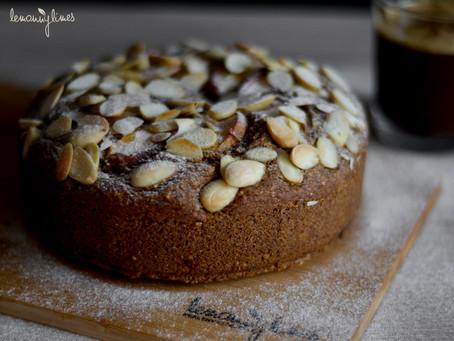 Broskvovo-mandlový koláč