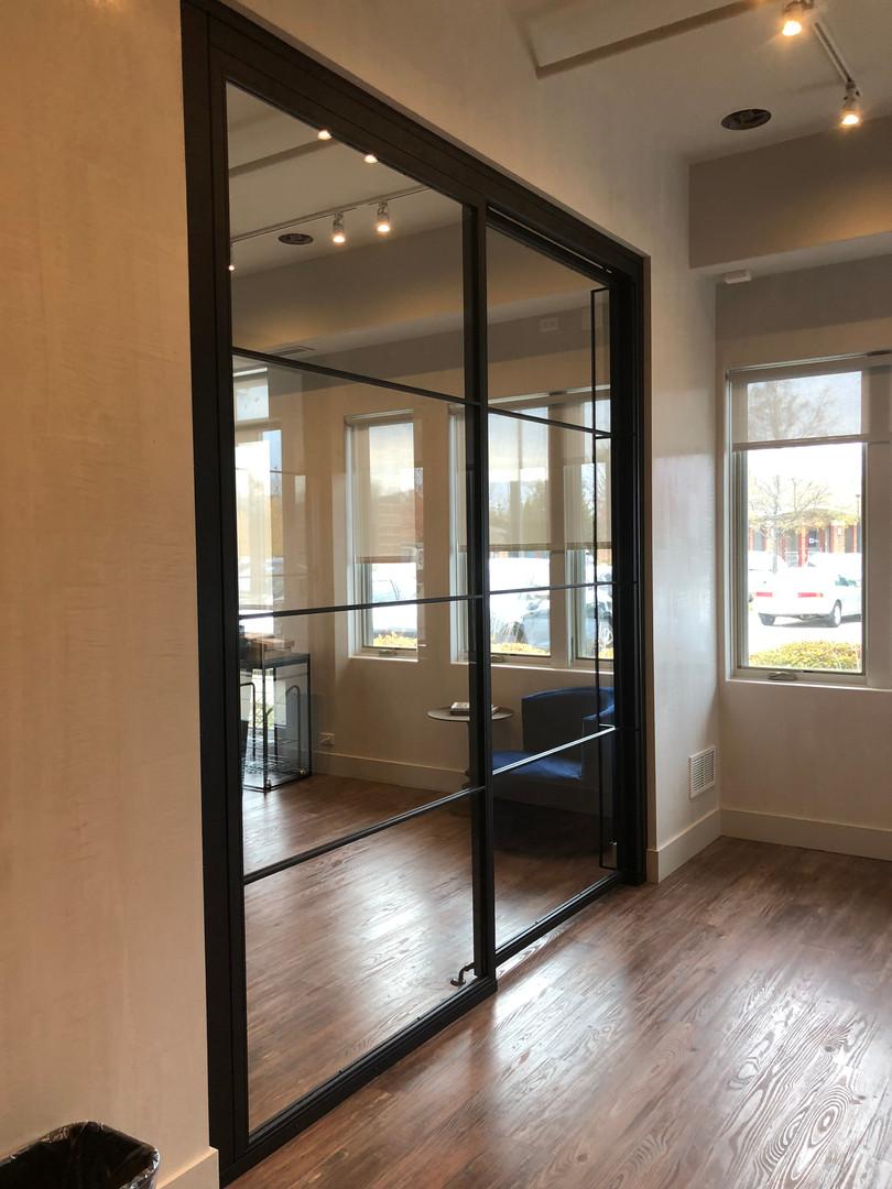 Modern office sliding door