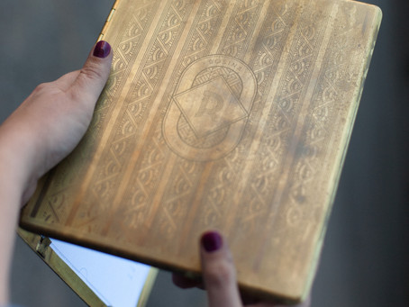 Aged and Etched Brass Menu Cases, Fabricated by Hand
