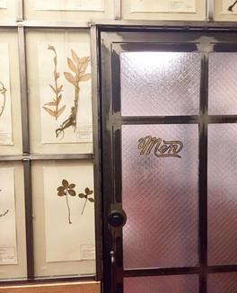 Industrial bathroom doors