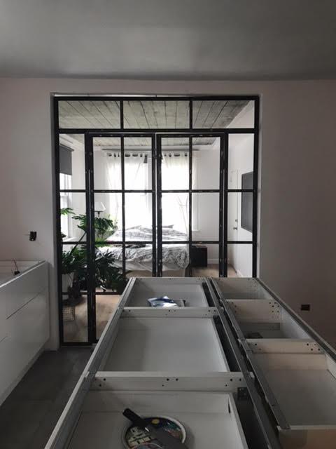 Inudstrial bedroom doors