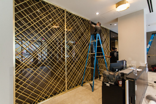 Brass Screen for a Condominum Lobby
