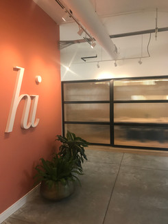 Minimalist office sliding door