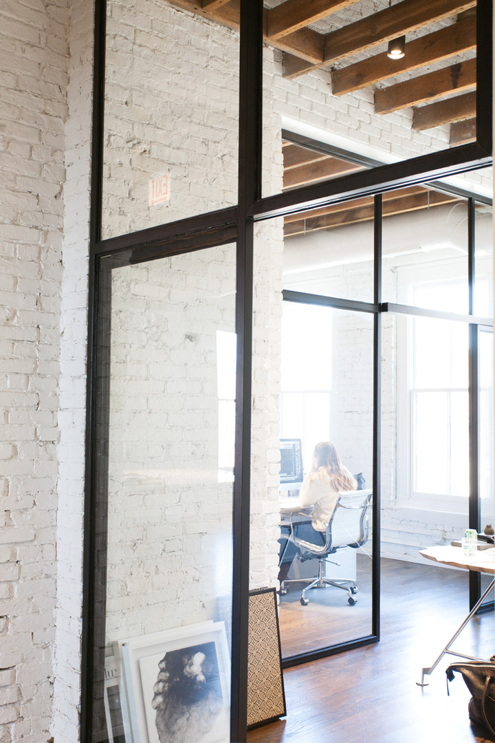 Steel and Glass Walls with Sliding Doors