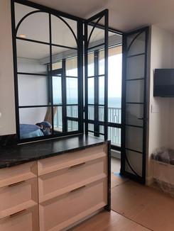 Modern kitchen doors and window