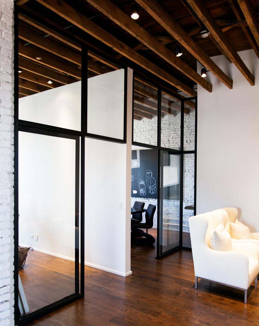 Minimalist office wall