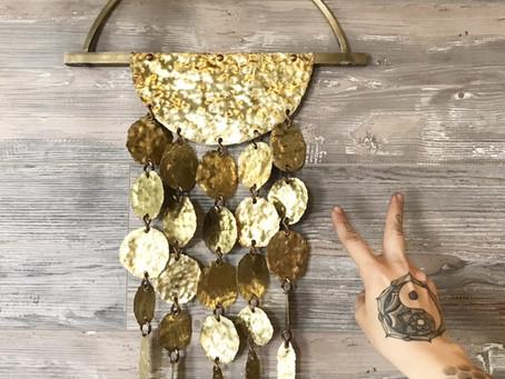 Sun Drop II Brass Wall Hanging