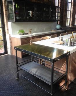 Brass and Steel Bar Cart