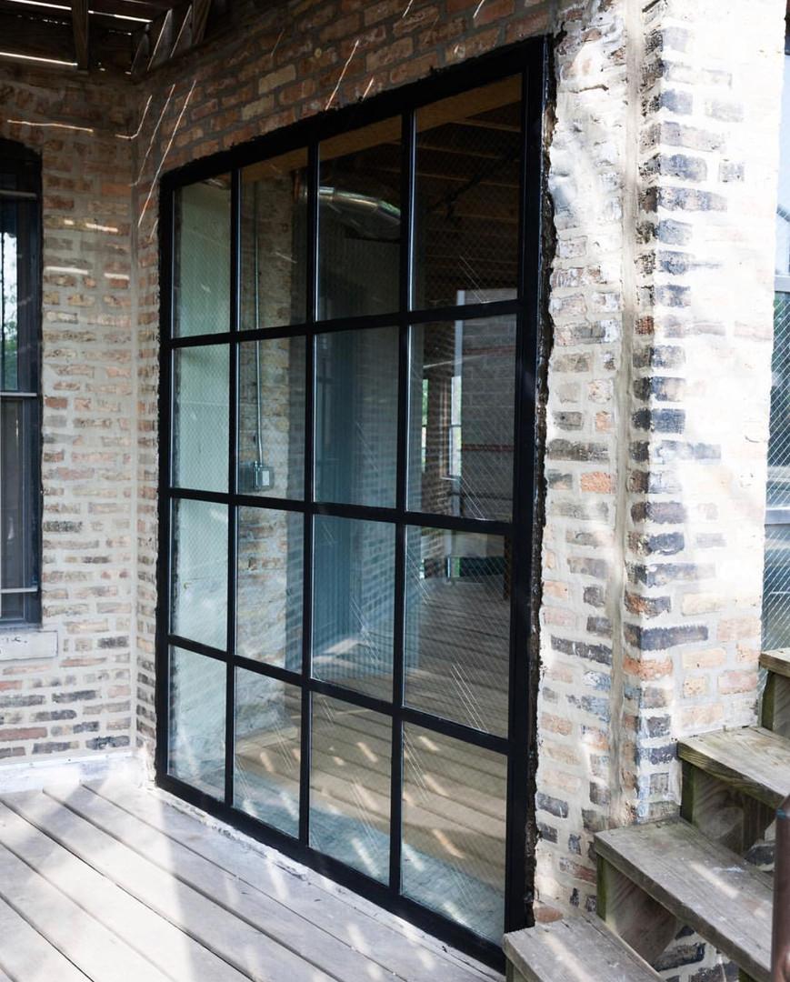 Industrail patio wall