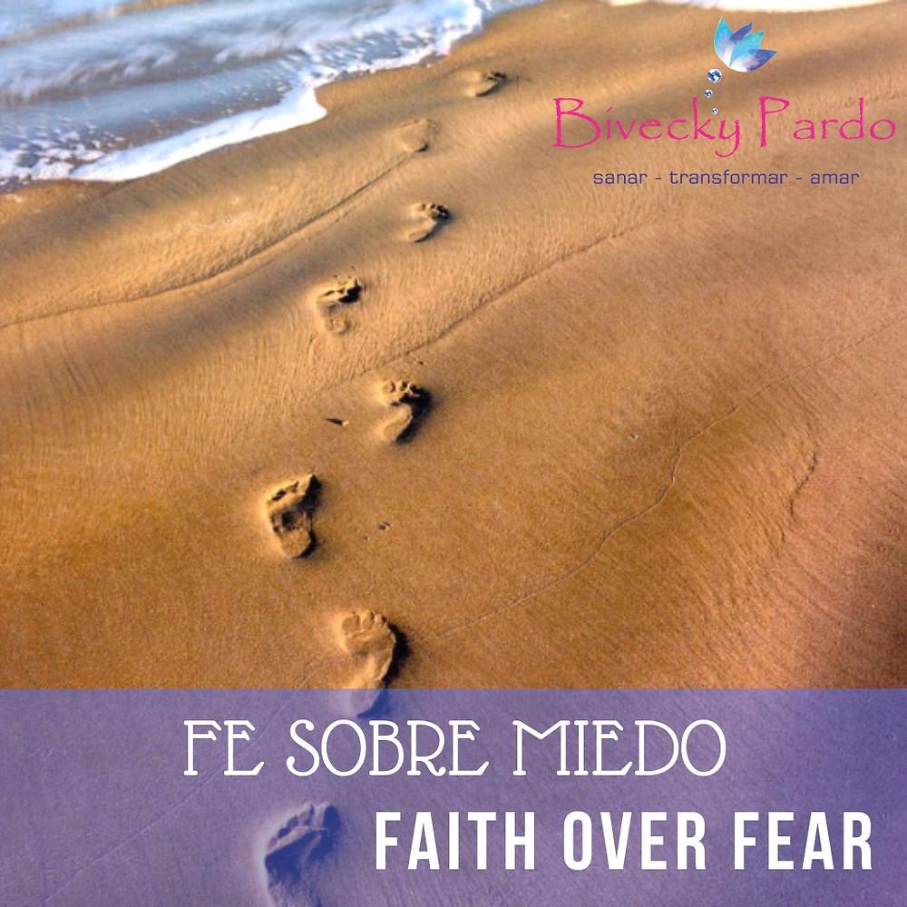 Este año debe permanecer en tu corazón y en tu memoría que la Fe debe estar por encima del miedo. Confiar en ti como confía Dios.