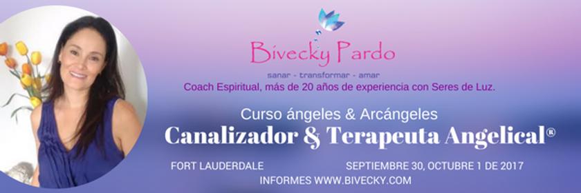 Bivecky Pardo, curso de ángeles internacional, certificaciones arcángeles, Fort Lauderdale, Florida