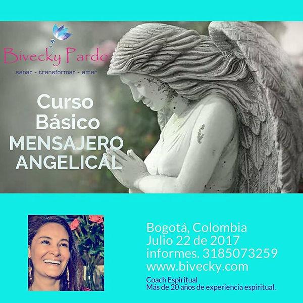 Bivecky Pardo, curso de ángeles internacional, certificaciones terapia ángeles, Bogotá