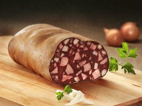 Hausmacher Blutwurst Rotwurst im Naturdarm am Stück 500gr
