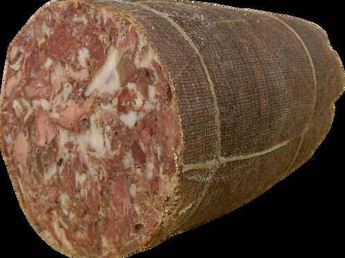 Soprassata Toscana Juta Schwartenmagen in Jute 1 kg
