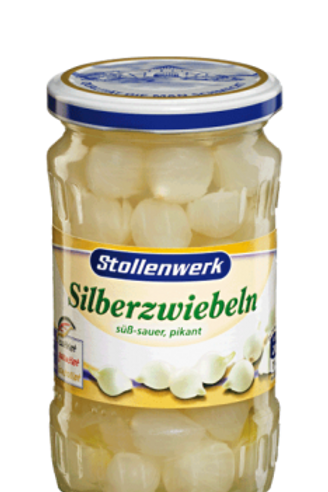Stollenwerk Silberzwiebeln süß-sauer, pikant 12x320gr