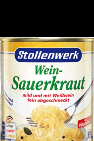 Stollenwerk Sauerkraut mild und mit Weißwein abgeschmeckt  12x810gr