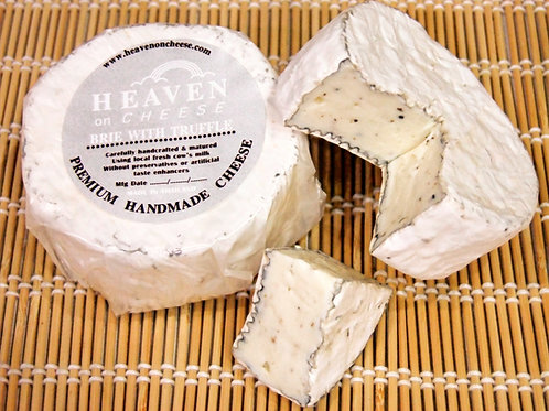 Artisan double creme Brie Cheese with truffle Handmade 2 x ca. 110gr