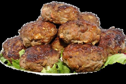 2 Frikadellen Fleischpflanzerl Bouletten Schwein ca. 350gr gebraten