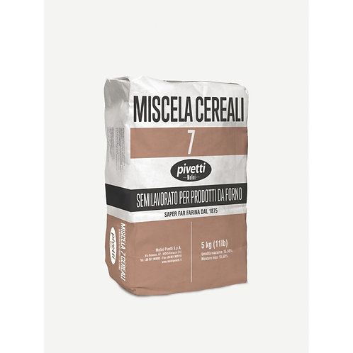 MISCELA 7 CEREALI - 7 GRAIN MIX FLOUR 5 Kg