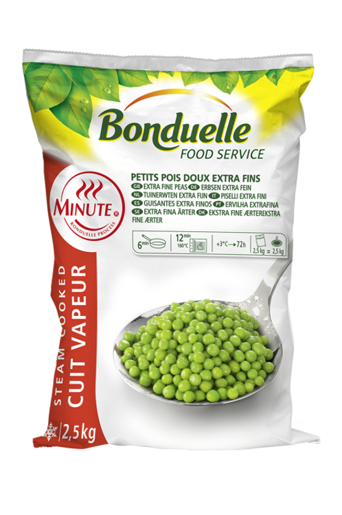 Bonduelle extra fine sweet peas Extra feine Erbsen 2,5 kg
