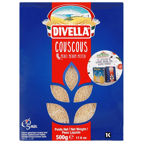 Divella Couscous Semola medium grain 12 x 500gr