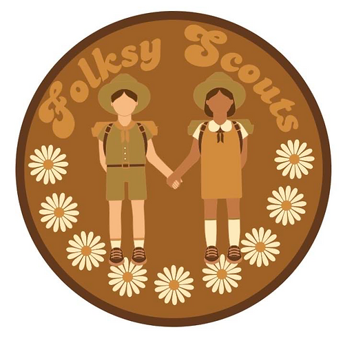 Folksy Scouts Sash and Patch Kit