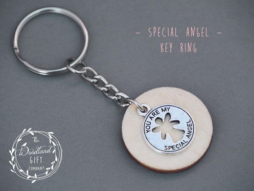 e6f15d77c Silver, Special, Angel, Keyring, Women's, Birthday Gifts, Woodland Gifts,