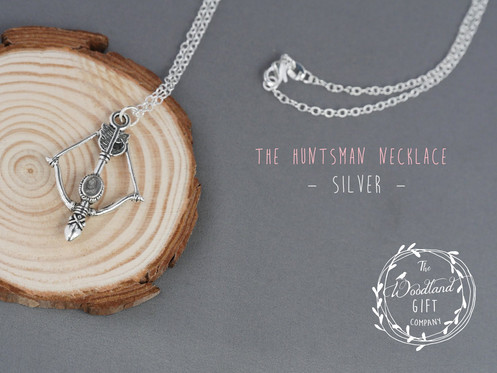 b95cb4d74 Silver, Bow & Arrow, Necklace, Women's, Birthday Gifts, Woodland Gifts,
