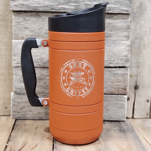 French Press with Bru-Stop Large 48oz Red