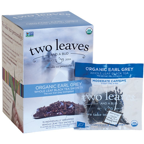 ORGANIC EARL GREY 15 INDIVIDUALLY WRAPPED SACHETS