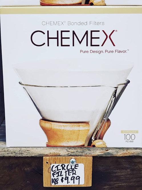 Chemex Reg Bonded Filter Circle 100ct