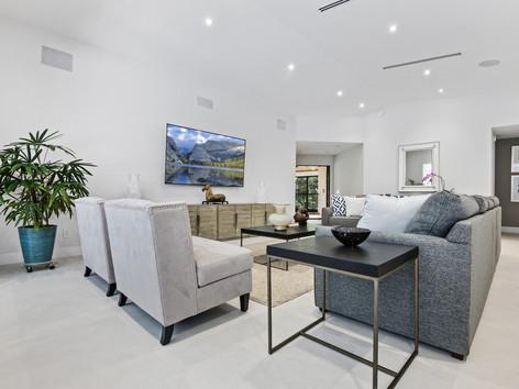 Sleek Living Room in Modern Mansion
