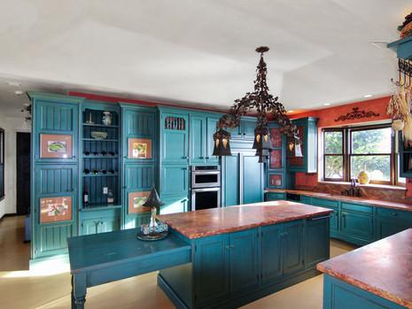 Gorgeous turquoise kitchen