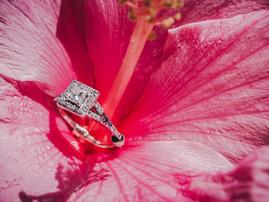Wedding Ring in Flower
