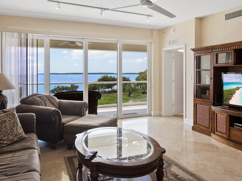 Living Room with Open Water View