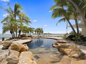 Huge pool at luxury home