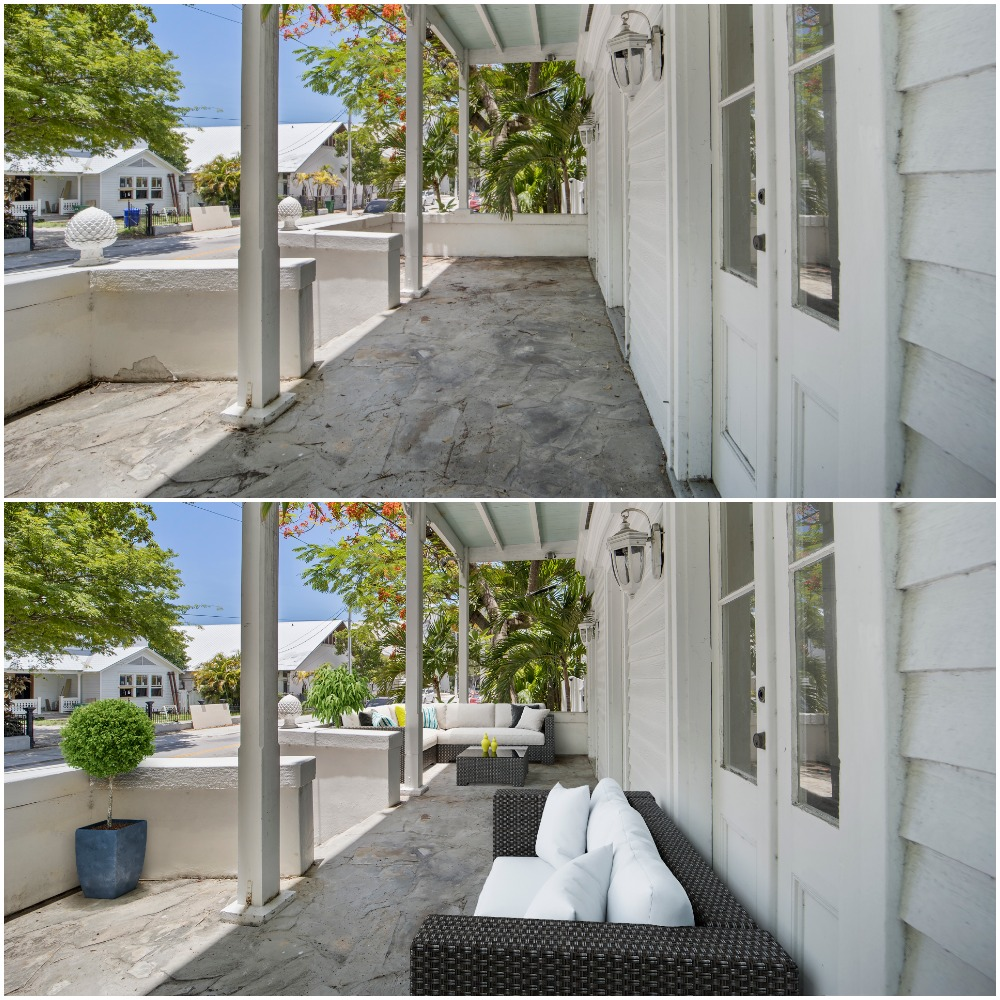 Front Porch Virtual Staging