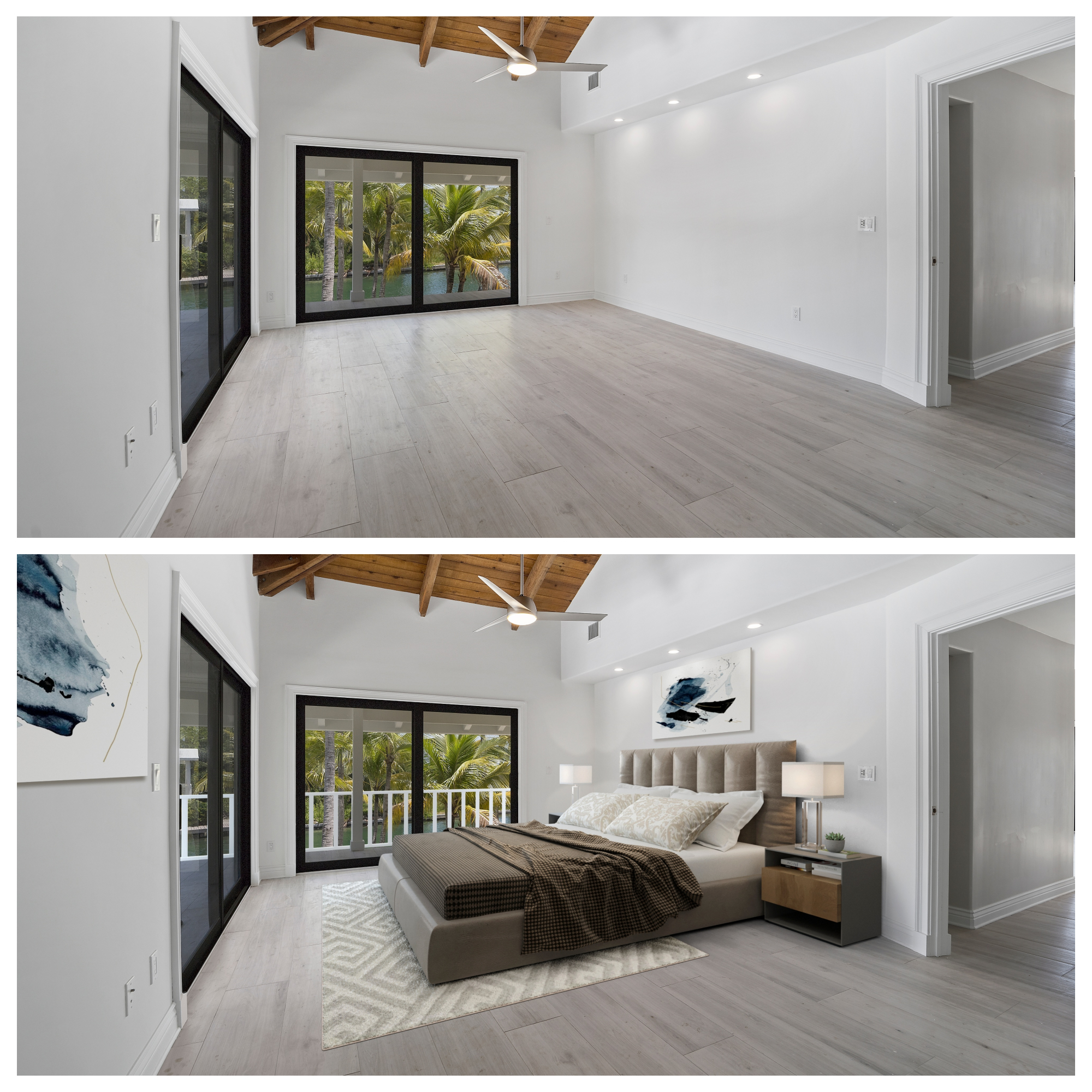 Primary Bedroom Virtual Staging