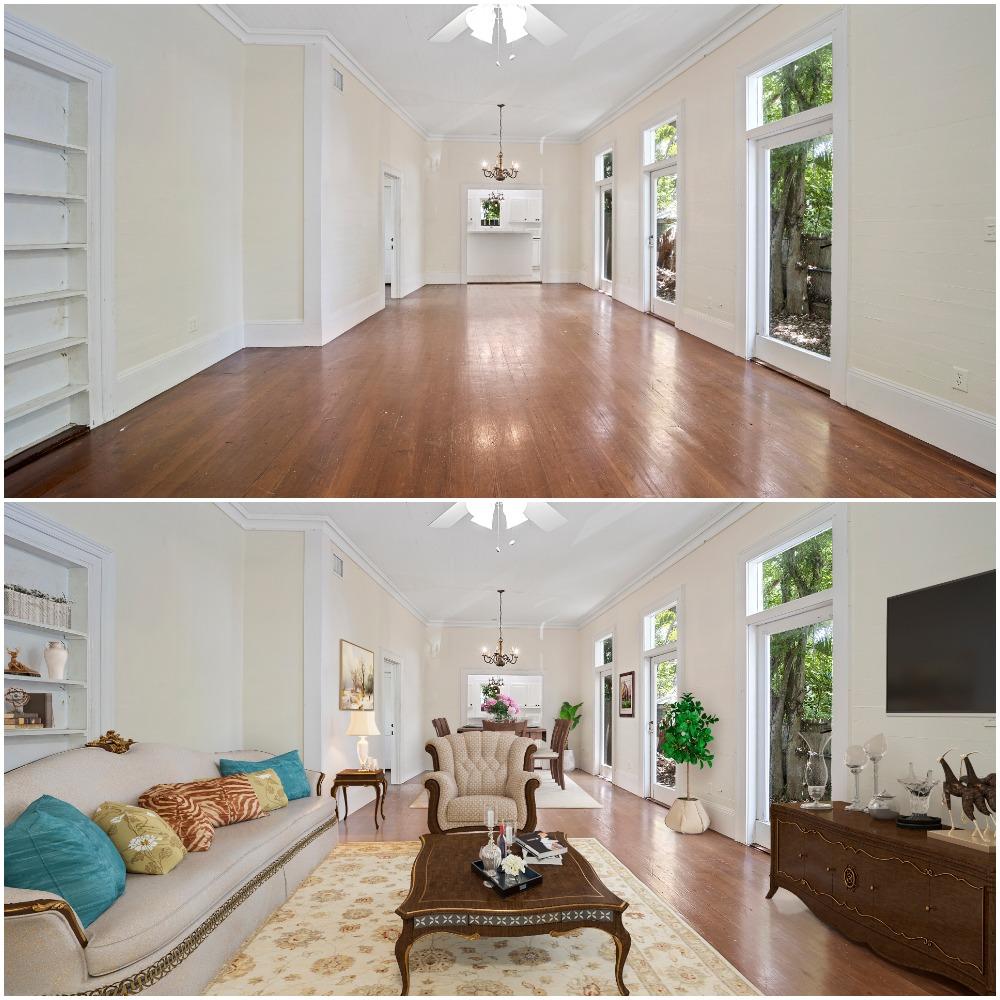 Living Room Digital Staging