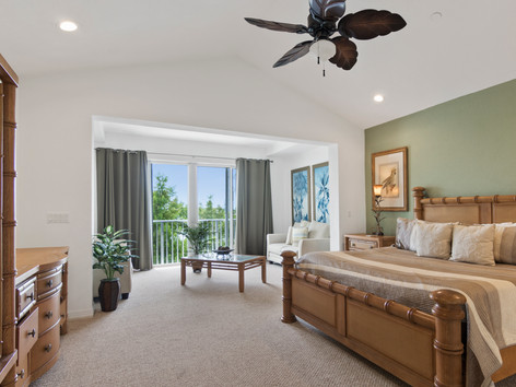 Vaulted Ceiling and View With Bedroom